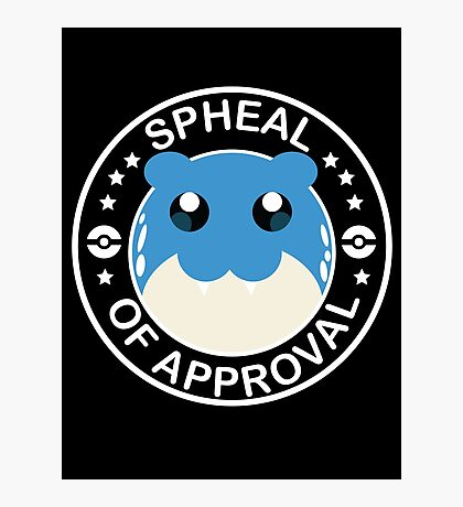 Spheal of Approval - White Photographic Print