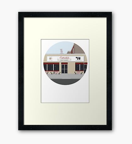 Satriale's, from the Sopranos HBO Framed Print