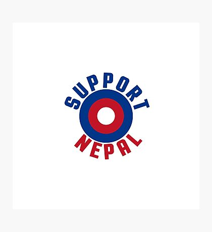 Support Nepal EARTHQUAKE RELIEF FUND DESIGN Photographic Print