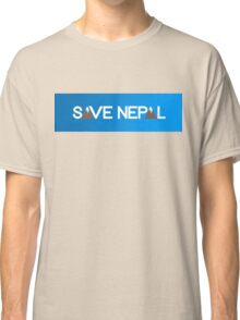 Save Nepal EARTHQUAKE RELIEF FUND DESIGN Classic T-Shirt