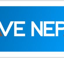 Save Nepal EARTHQUAKE RELIEF FUND DESIGN Sticker