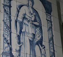 Wall decoration Blue Delft by patjila