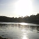 Cornish Sunset on the river Helford by Alice Oates