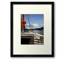 Through the rigging Framed Print