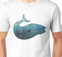 Barn Wood Whale Unisex T-Shirt