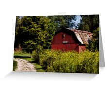 Nature center barn Greeting Card