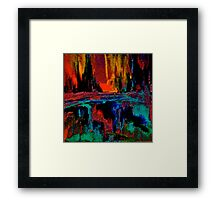 There's a Light in the Darkness Framed Print