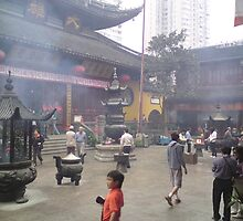 Buddhist Temple Shanghai 1 by barnsy