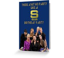 S Club 7 Birthday Card/Party Invitation Greeting Card