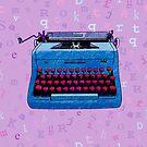 Hand Drawn Typewriter Seamless Design by Stacey Lynn Payne
