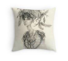 Witch Doctor / Portrait of Tara Throw Pillow