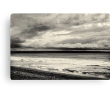 Cloudy Beach Canvas Print