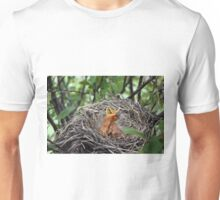 Baby Robins in nest  Unisex T-Shirt