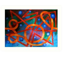 The Curved Threads the Straight Art Print