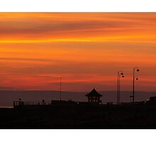 Bexhill sunset Photographic Print