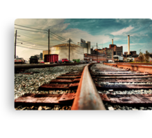 Train on Tracks Canvas Print