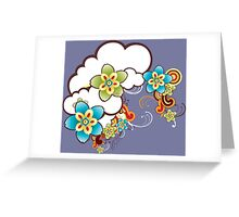 Flowers in clouds Greeting Card