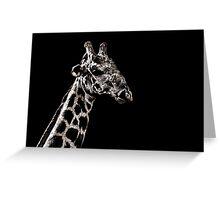 Giraffe Portrait Fine Art Print Greeting Card
