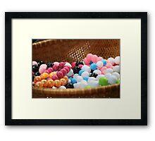Gum balls? Naah Framed Print