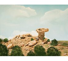 Camel Rock New Mexico USA  ~ Oil Painting ~ Summer Photographic Print