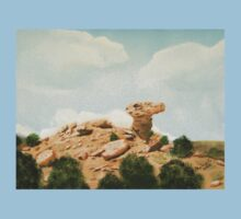 Camel Rock New Mexico USA  ~ Oil Painting ~ Summer Kids Clothes