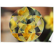 Geometric Flower Poster