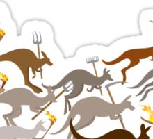 A Mob of Kangaroos Sticker