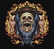 Vampire Skull symmetrical design by Al Rio by alrioart