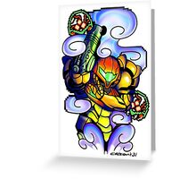 Metroid Samus Aran Greeting Card