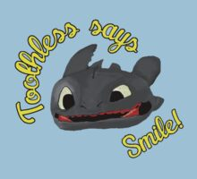 Toothless Says Smile! by Leanne Egan