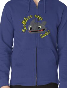 Toothless Says Smile! Zipped Hoodie