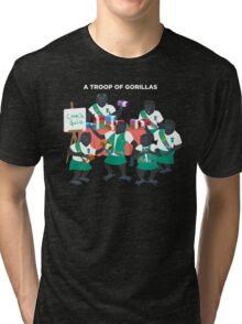A Troop of Gorillas Tri-blend T-Shirt