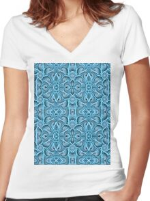 Rope Patterns 1 Women's Fitted V-Neck T-Shirt