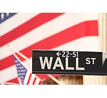 Wall Street, the Symbol Photographic Print