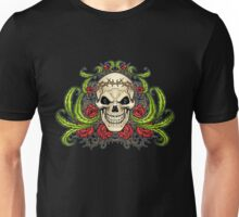 Skull with Roses and Crown of Thorns by Al Rio Unisex T-Shirt