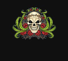 Skull with Roses and Crown of Thorns by Al Rio T-Shirt