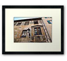 Derelict Facade Framed Print