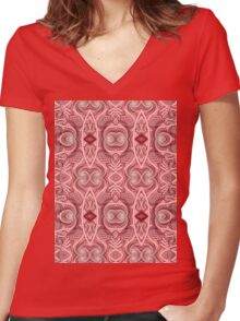 Rope Patterns 2 Women's Fitted V-Neck T-Shirt