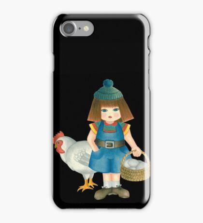 doll and chicken iPhone Case/Skin