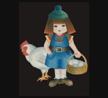 doll and chicken by Laura Bruni