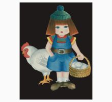 doll and chicken Kids Tee
