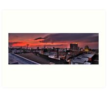 Baltimore Skyline at Dusk Art Print