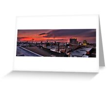 Baltimore Skyline at Dusk Greeting Card