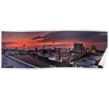 Baltimore Skyline at Dusk Poster
