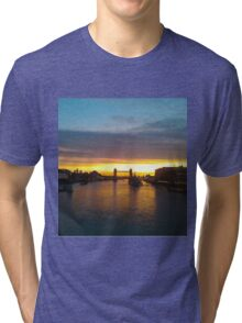 Tower Bridge Backlit Tri-blend T-Shirt