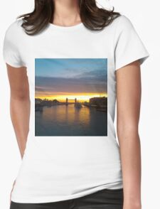 Tower Bridge Backlit Womens Fitted T-Shirt