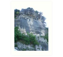 Bluff at Ten Killer Lake Art Print