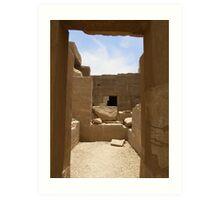 Egyptian Blocks Art Print