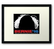 Bernie Sanders for President - Hair - White Text Framed Print