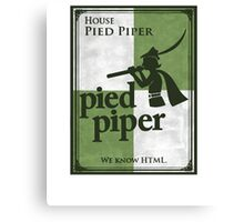 House Pied Piper Canvas Print